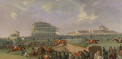 Painting - The Liverpool And National Steeplechase At Aintree, 1843 by William Tasker