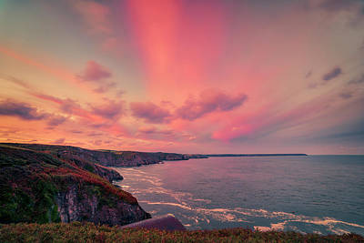 The Lizard Point Sunset Art Print