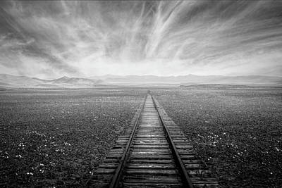 Photograph - The Long Way Black And White by Debra and Dave Vanderlaan