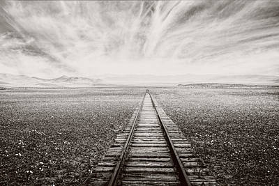 Photograph - The Long Way In Sepia Tones by Debra and Dave Vanderlaan
