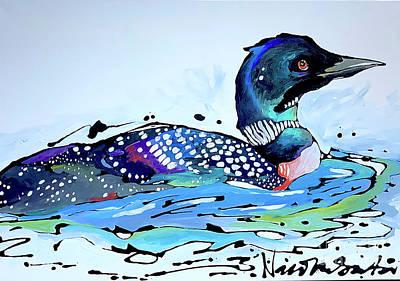 Painting - The Loon by Nicole Gaitan