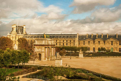 Photograph - The Louvre by Mick Burkey