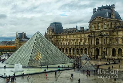 Western Art - The Louvre Palace The Louvre Museum Paris France Musee du Louvre by Wayne Moran