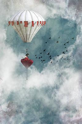 Digital Art - The love balloon by Mihaela Pater