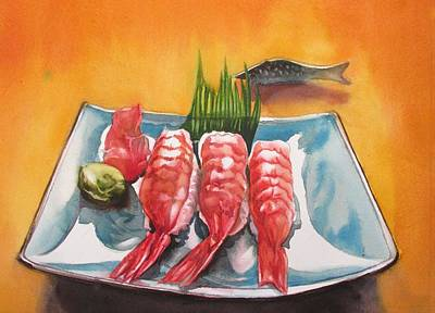 Painting - The Love Of Sushi by Alfred Ng
