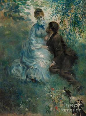 Painting - The Lovers, 1875 by Pierre Auguste Renoir