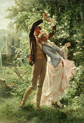 Of Roses And Love Wall Art - Painting - The Lovers by Alexandre Auguste Rose