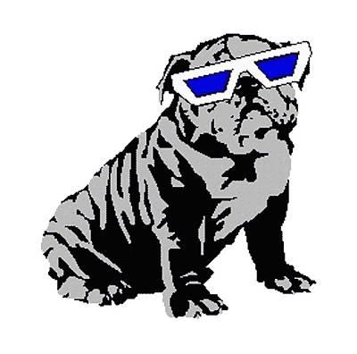 Digital Art - The Lucky Puppy by Walter Chamberlain