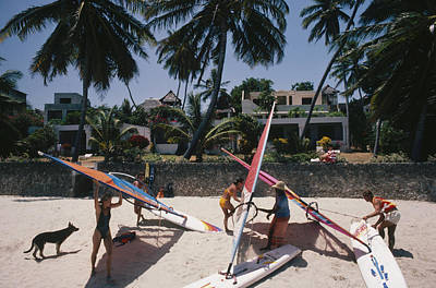 Dog Photograph - The Lure Of Lamu by Slim Aarons