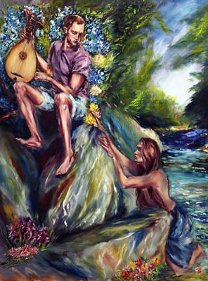 Painting - The Lute Player by Ruslana Levandovska