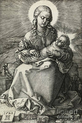 Drawing - The Madonna And Child In Swaddling, 1520 by Albrecht Durer