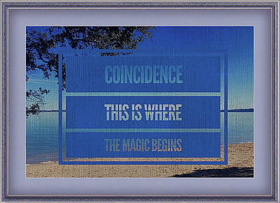 Mixed Media - The Magic Of Coincidence by Clive Littin