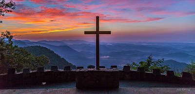 Photograph - The Magnificent Cross 7 Pretty Place Chapel Greenville Sc Great Smoky Mountains Art by Reid Callaway
