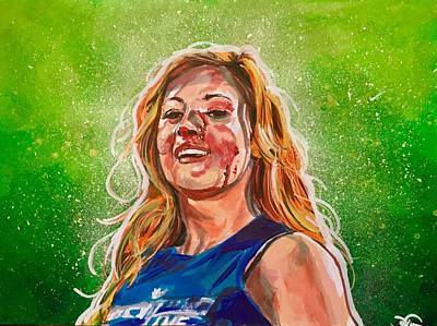 Painting - The Man - Becky Lynch by Joel Tesch