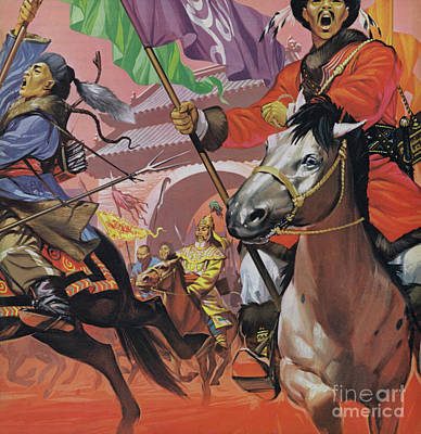 Painting - The Manchus Taking Over China  by Angus McBride