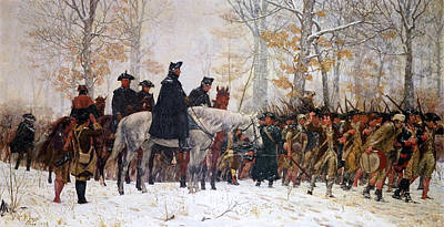 Impressionist Landscapes - The March To Valley Forge  by Doc Braham