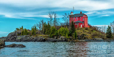 Photograph - The Marquette Harbor Lighthouse by Nick Zelinsky