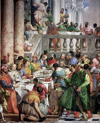 Painting - The Marriage At Cana By Paolo Veronese by Peter Willi