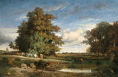 Painting - The Marsh by Constant Troyon