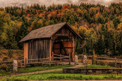 Photograph - The Martin Covered Bridge In Marshfield Vt. by Jeff Folger