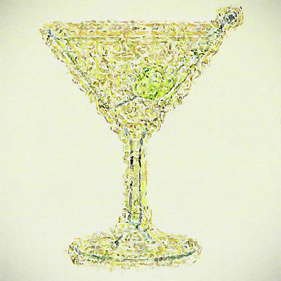 Martini Painting Rights Managed Images - The Martini Royalty-Free Image by Dan Sproul