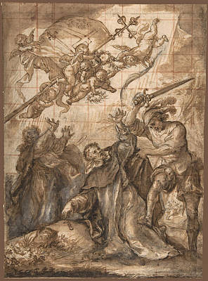 Drawing - The Martyrdom Of St. Peter Martyr by Francisco Camilo
