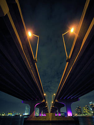 Photograph - The Mcarthur Causeway In Miami by Thepalmer