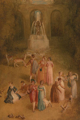 Painting - The Meadow by Thomas Stothard