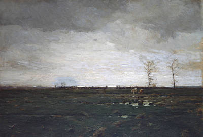 Painting - The Meadows by William Langson Lathrop