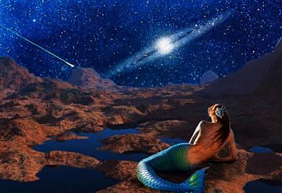 Digital Art - The Meditative Mermaid by Mario Carini