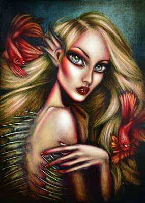 Surrealism Royalty-Free and Rights-Managed Images - Ariel Painting by Tiago Azevedo Pop Surrealism Art by Tiago Azevedo
