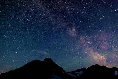 Photograph - The Milky Way From Glacier National Park by Ed Leckert