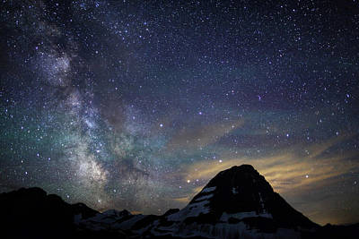 Photograph - The Milky Way Over Bear Hat Mountain by Jonkman Photography