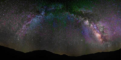 Photograph - The Milky Way Over The Anza Borrego Desert by Peter Tellone