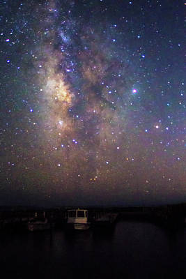 Soap Suds - The Milkyway Over Harkers Island Boats by Bob Decker