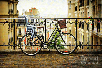 Photograph - The Montmartre Bicycle by Craig J Satterlee