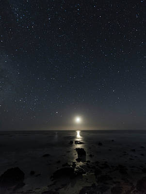 Photograph - The Moon And The Stars by Alex Lapidus