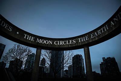 Photograph - The Moon Circle by Juan Contreras