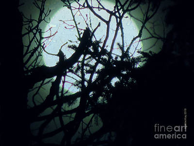 Digital Art - The Moon Through A Wet Window by Art MacKay
