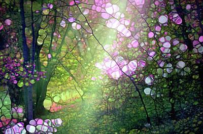 Digital Art - The Morning Light Tenderly Awakens The Forest From Sleep by Tara Turner