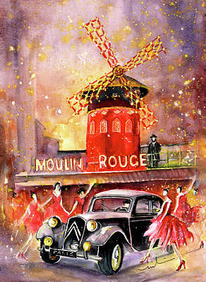 Painting - The Moulin Rouge Authentic by Miki De Goodaboom