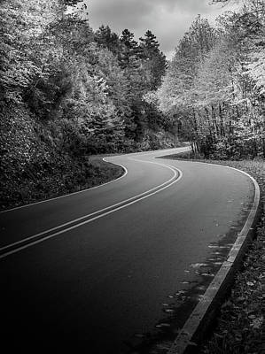 Photograph - The Mountain Road In Black And White by Chrystal Mimbs