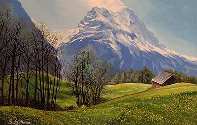 Painting - The Mountain by Said Marie