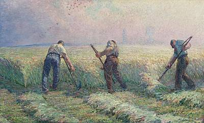 Valentines Day - The Mowers in the Outskirts of Lagny, 1899-1900 by Henri Lebasque