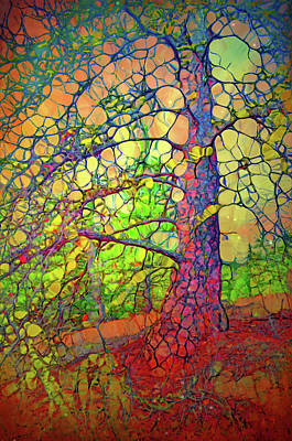 Digital Art - The Multilayered Wisdom Of Trees by Tara Turner