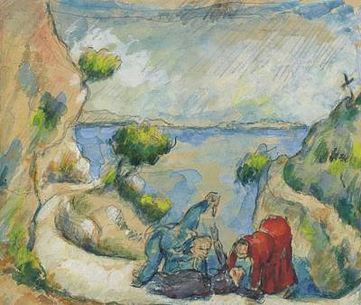 Winter Animals - The Murder in Ravine 1874 75 by Paul Cezanne Paintings
