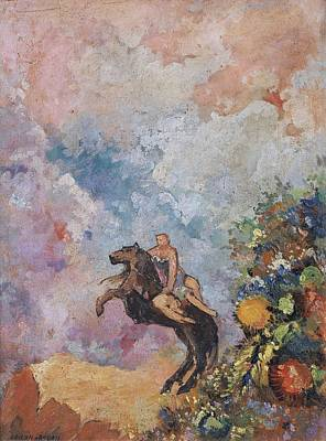 Word Signs - The Muse on Pegasus by Odilon Redon