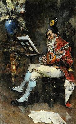 Musicians Royalty Free Images - The Musician, 1874 Royalty-Free Image by Giovanni Boldini