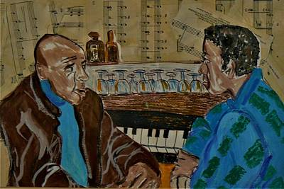 Drawing - the Musicians by Delorys Tyson