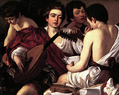 Musicians Royalty Free Images - The Musicians  Royalty-Free Image by Michelangelo Caravaggio